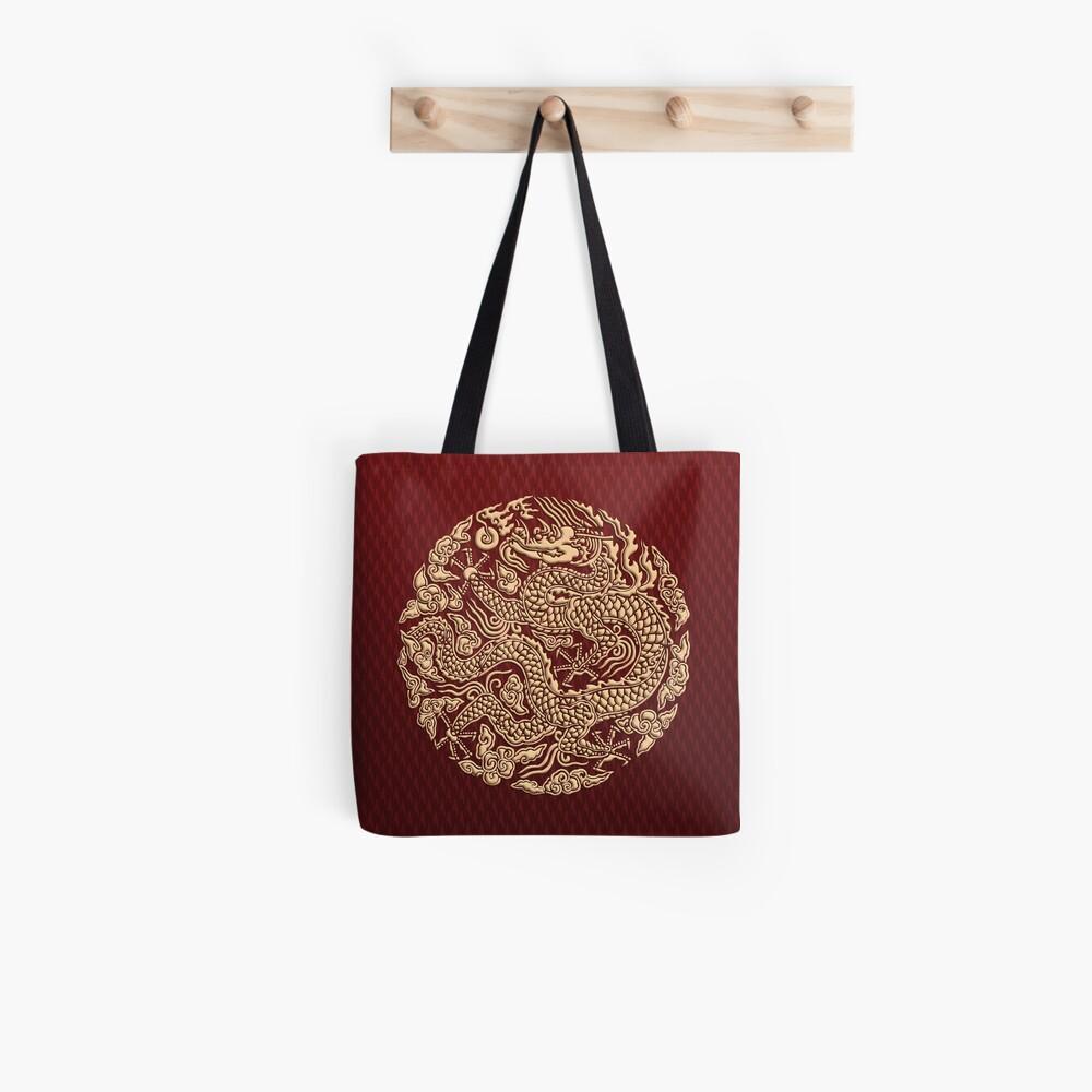 Golddrachen shenlong Stofftasche