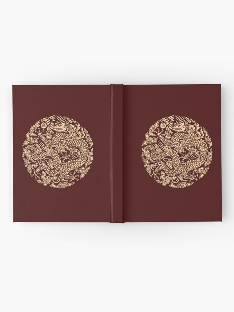 Alternative Ansicht von Golddrachen shenlong Notizbuch