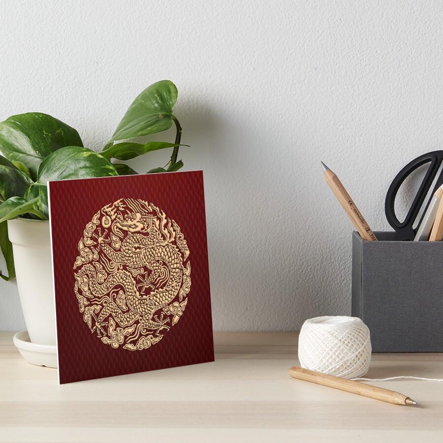 Golddrachen shenlong Galeriedruck