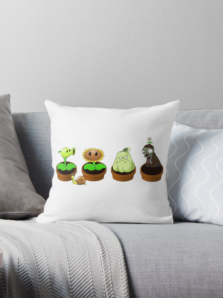 """Plants Vs Zombies: Zen Garden"" Throw Pillows By"