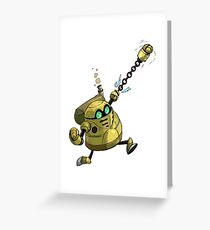 ROBO PUNCH Greeting Card