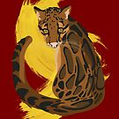 Clouded Leopard Illustration  by Maxwbender