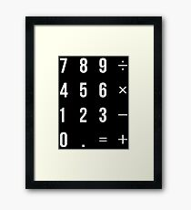 Calculator Framed Print