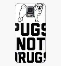 Pugs Not Drugs [Black] Case/Skin for Samsung Galaxy