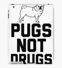 Pugs Not Drugs [Black] iPad Case/Skin