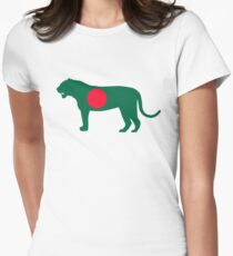 Flag Bengal Tiger of Bangladesh Women's Fitted T-Shirt