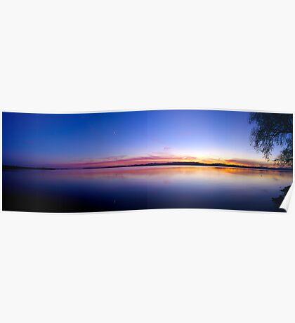 Sunset, Lake Champlain - Panorama Poster
