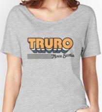 Truro, Nova Scotia | Retro Stripes Women's Relaxed Fit T-Shirt