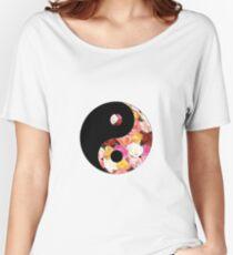 Flower Yin Yang Women's Relaxed Fit T-Shirt