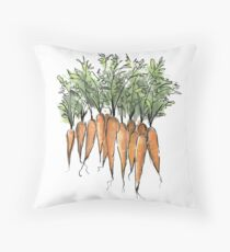 For the love of Carrots Throw Pillow