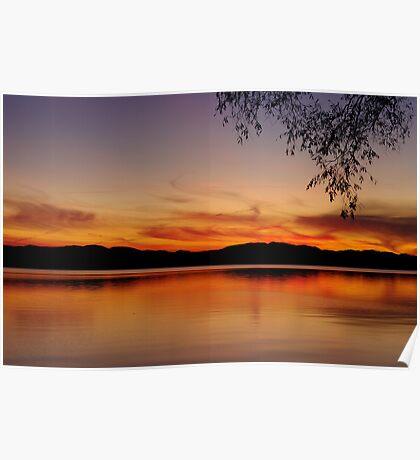 Sunset, Lake Champlain Poster
