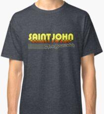 Saint John, New Brunswick | Retro Stripes Classic T-Shirt