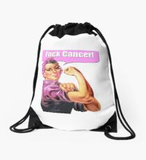 Fuck Cancer! Drawstring Bag
