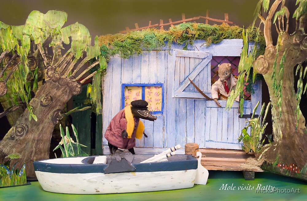 Wind in the Willows - Mole visits Ratty by MicksPhotoArt
