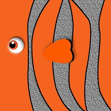 Orange ornamental fish cartoons by dezigner007