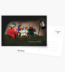 Wind in the Willows - The fieldmice carol singing Postcards
