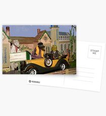 Wind in the Willows - Toad's New Car Postcards