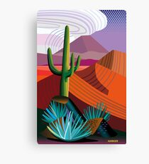 Thunder Cloud Building in the Desert Canvas Print
