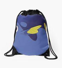 Blue ornamental fish cartoons Drawstring Bag