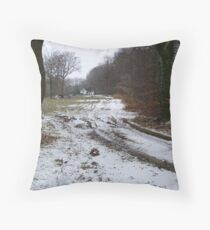 wintry scene Throw Pillow