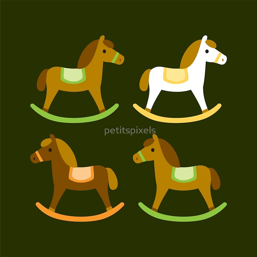 Rocking horses pattern by petitspixels