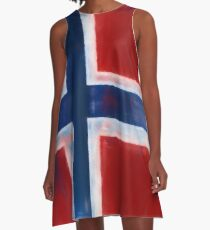 Norwegian Flag No. 1, Series 1 A-Line Dress