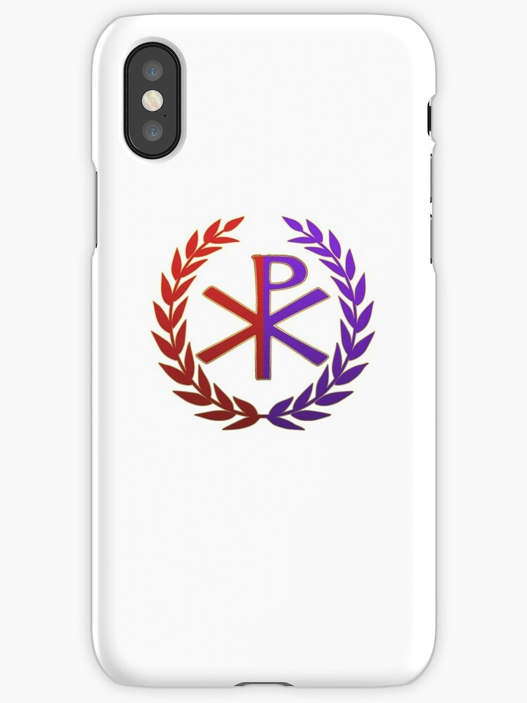 Roman Empire East Vs West Chi Rho Symbol Iphone Cases Covers By