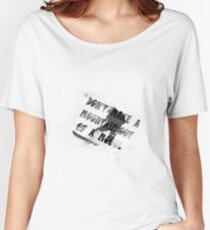 DON'T MAKE A MOUNTAIN OUT OF A MOGUL  Women's Relaxed Fit T-Shirt