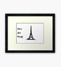 Home, Love, Family ANASTASIA  Framed Print