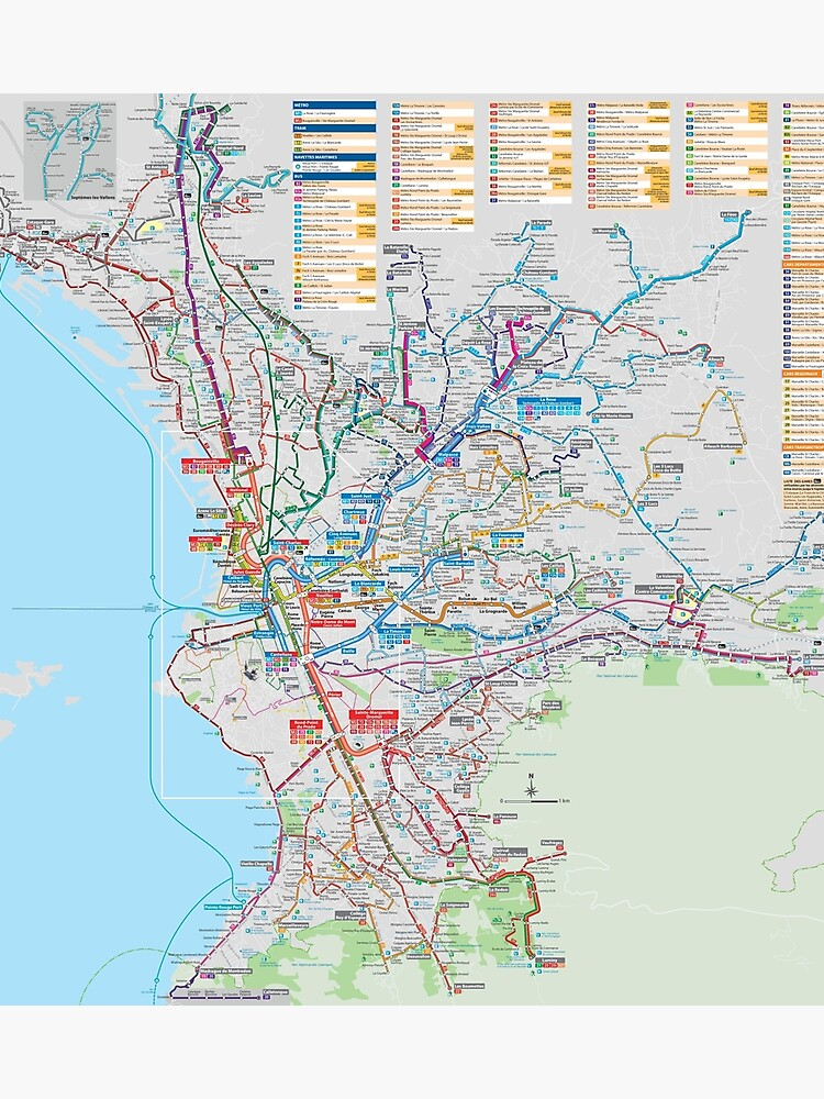 Marseille On Map Of France.Marseille Bus Map France Photographic Print By Superfunky Redbubble