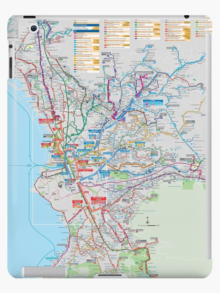 Marseille On Map Of France.Marseille Bus Map France Ipad Case Skin By Superfunky