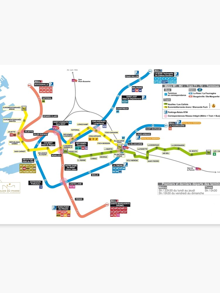 Marseille On Map Of France.Marseille Metro Map France Canvas Print By Superfunky Redbubble