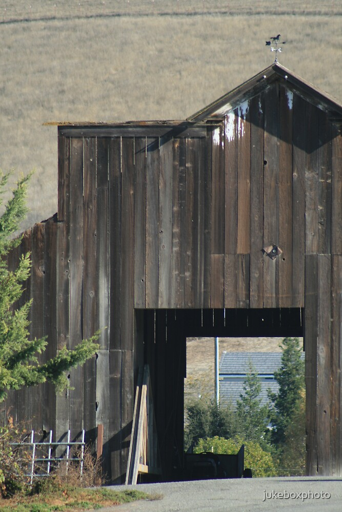 Old barn and Bridge by jukeboxphoto