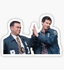 Boyle and Jake Highfive Sticker