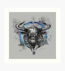 bull sketchy style drawing Art Print