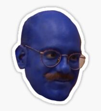 tobias fünke: blue man Sticker