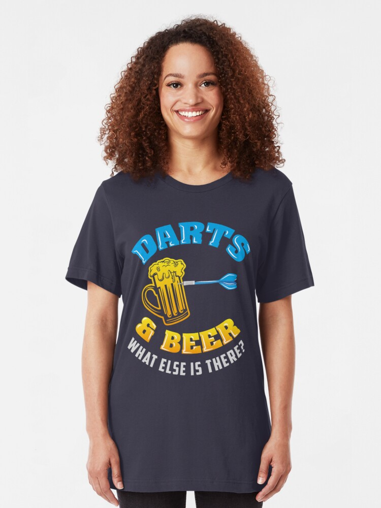 Alternative Ansicht von Darts & Beer What Else Is There? - Funny Dart Player Pun Gift Slim Fit T-Shirt