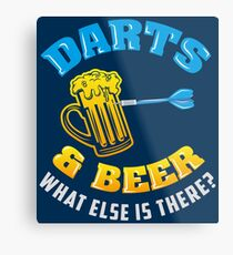 Darts & Beer What Else Is There? - Funny Dart Player Pun Gift Metallbild