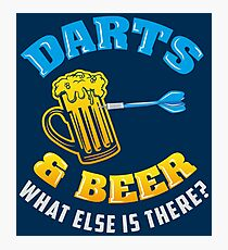 Darts & Beer What Else Is There? - Funny Dart Player Pun Gift Fotodruck