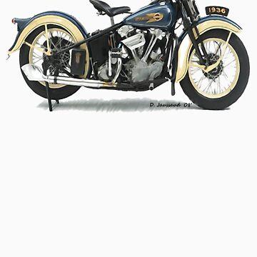 1936 Knucklehead-Long Sleeve by ezcat
