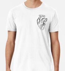 Anatomical Heart (black and white) Men's Premium T-Shirt