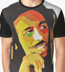 Bob Concept Best Marley seller Colorful Face Art Print Graphic T-Shirt