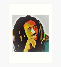 Bob Concept Best Marley seller Colorful Face Art Print Art Print