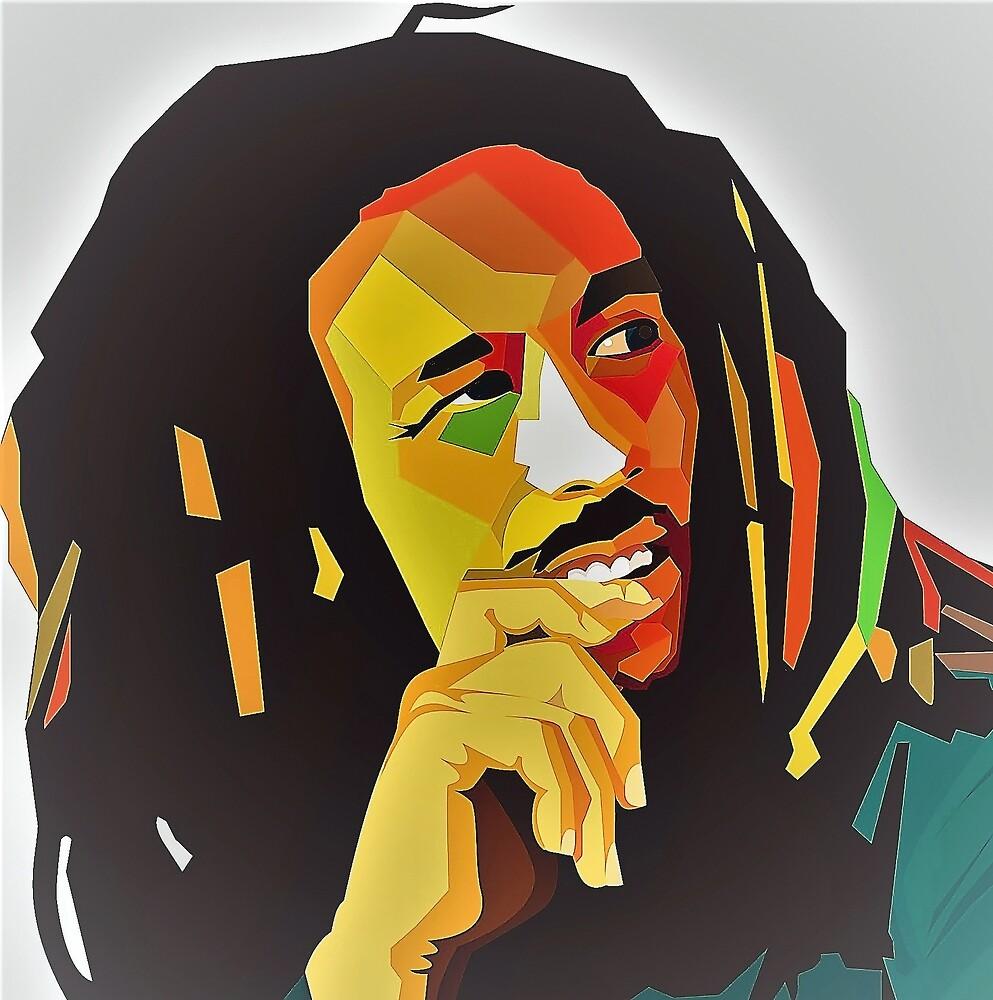 Bob Concept Best Marley seller Colorful Face Art Print\