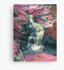 Green Ooze Waterfall Canvas Print