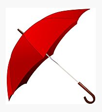 Red Umbrella Photographic Print