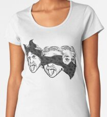 Funny Geek T-shirt Einstein Tongue Women's Premium T-Shirt