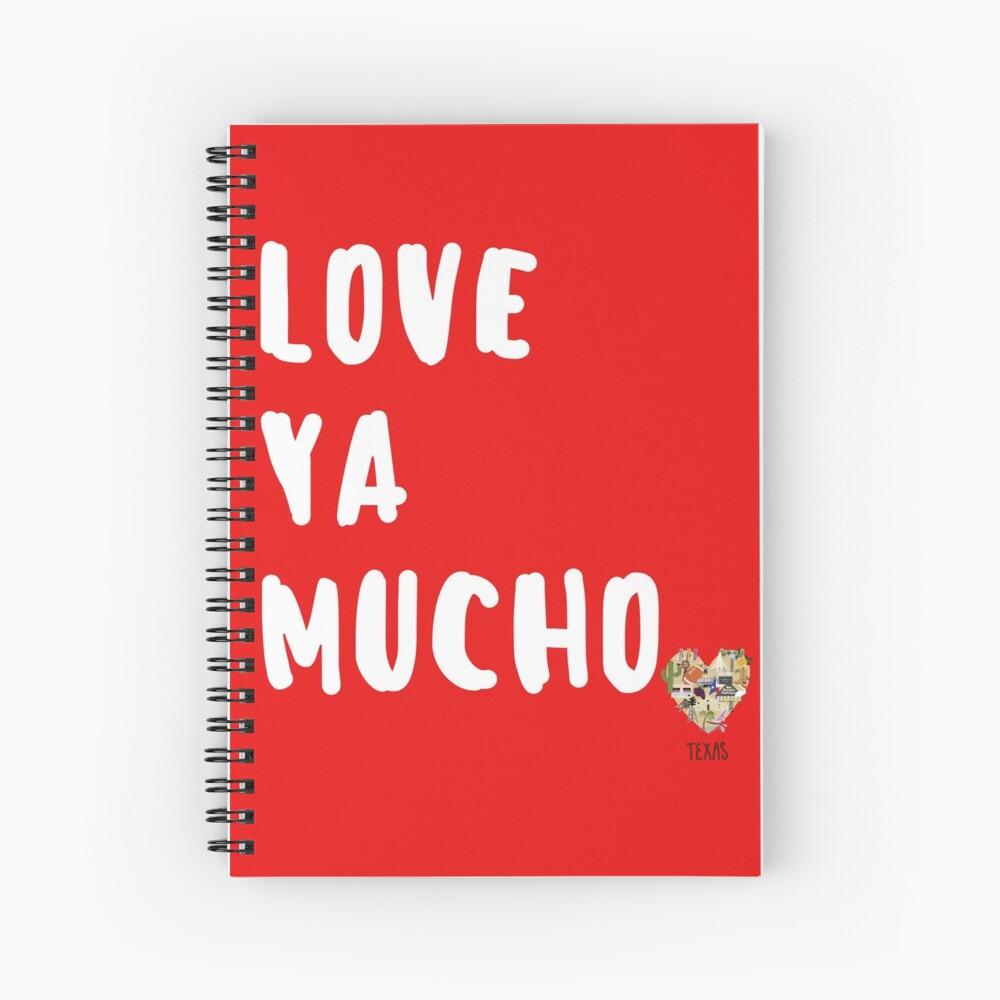 Love in Texas Valentines Day Spiral Notebook