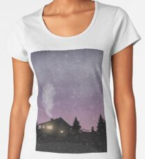 Winter sunset Women's Premium T-Shirt