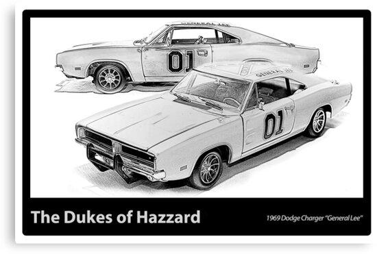 Dukes of Hazzard - 1969 Dodge Charger by Ewan Arnolda